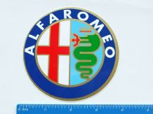 ALFA ROMEO badge , 1980s,  approx 4 inch (100mm) Unused decal/sticker